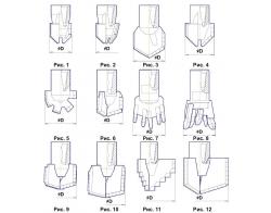 Долота лопастные с резьбовой муфтой и промывкой (Резьба замковая З-50 ГОСТ 7918-75)