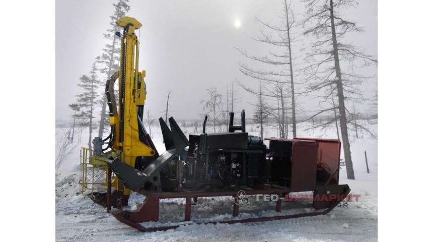 Установка буровая гидромеханизированная УБГМ-1А на санной базе