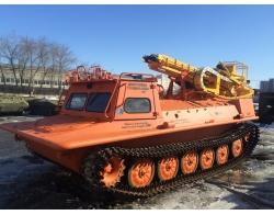 Установка буровая гидромеханизированная УБГМ-1А на базе снегоболотохода многоцелевого КТМ-10 (МТЛБ)