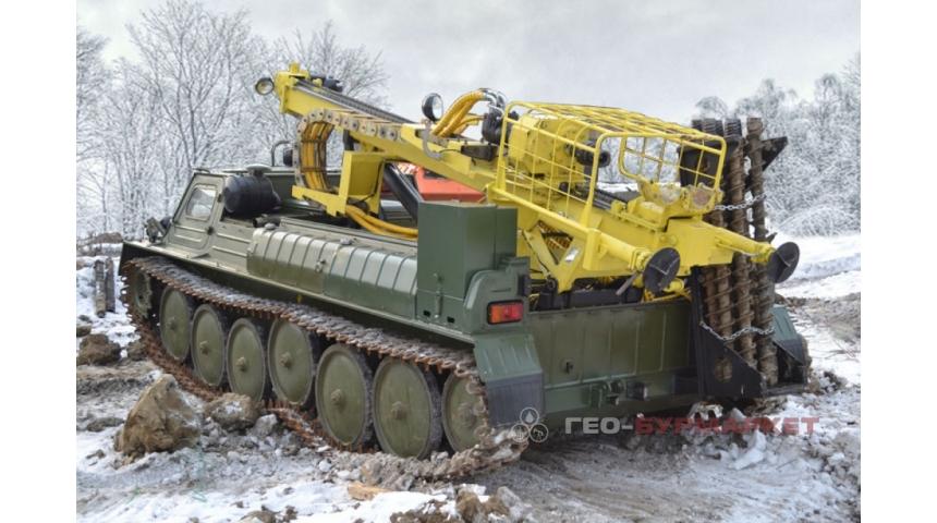 Установка буровая гидромеханизированная УБГМ-1Л на базе снегоболотохода ГАЗ-34039