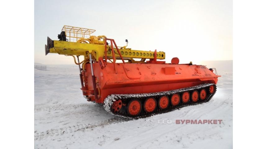 Установка буровая гидромеханизированная УБГМ-1Т на базе многоцелевого снегоболотохода КТМ-10-01 (МТЛБу)