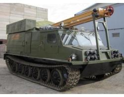 УРБ-2А-2 НА ШАССИ ГУСЕНИЧНОГО СНЕГОБОЛОТОХОДА